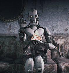 Violent Ends: Photo Character Concept, Concept Art, Robot Wallpaper, Robots Characters, Goth Art, Arte Horror, Ex Machina, Cyberpunk Art, Steampunk
