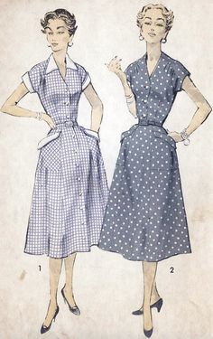 1950s Dress Vintage Sewing Pattern