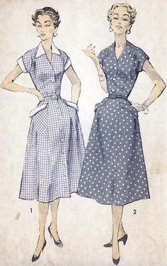 1950s Dress Vintage Sewing Pattern