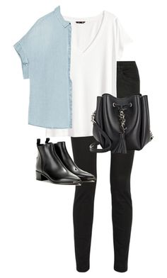 """""""Untitled #10586"""" by alexsrogers ❤ liked on Polyvore featuring Proenza Schouler, H&M, Zara, Acne Studios and Yves Saint Laurent"""