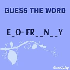 #GreenoBag #gameoftheweek  Guess the word #letsplay send us your answer in the comment section below!