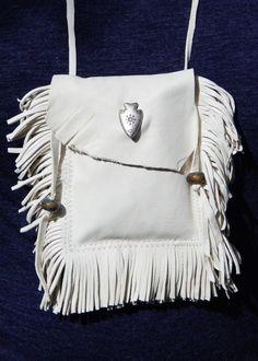 White Buffalo Calf Woman medicine pouch (description only of bag)