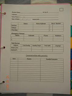 The best student information sheet I have found on Pinterest. [Free!!!!] {Fill it in with Adobe!}