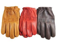 "Deadbeat Customs x Churchill - ""Deadbeat"" Maverick Short Wrist Deerskin Leather Gloves Motorcycle Riding Gloves, Deadbeat, Deerskin, Leather Gloves, Churchill, Bike, Shorts, Clothing, Men"