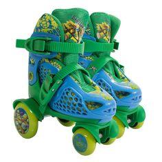 Kids Teenage Mutant Ninja Turtles Big Wheel Skates by Playwheels, Green