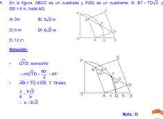 THALES Y PROPORCIONALIDAD EJERCICIOS RESUELTOS DE GEOMETRIA MATEMÁTICAS DE SECUNDARIA Y PREUNIVERSITARIA pdf Formulas, Line Chart, Geometry, Math, Tips, Plane Geometry, Study Tips, Bead, Mathematics