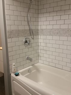 Close Up Of Tile Accent For Bathtub Surround Bathroom Ideas Bathtub Surround Ceramic Tile
