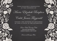 Elegant Flourish Wedding Invitation - Hoopla House