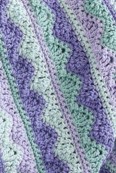 CrochetKim Free Crochet Pattern: Summer Mist Throw @crochetkim