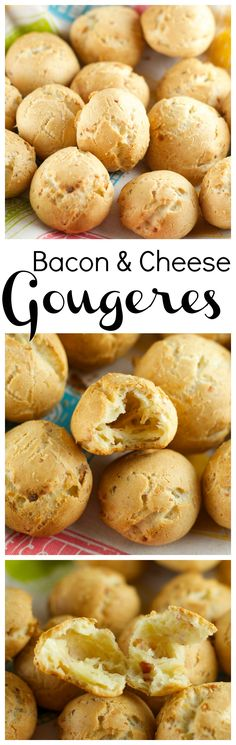 Cheese And Bacon Gougères - easy to make and delicious party appetizer! These little cheese balls do not need a dipping sauce since they hold so much flavor