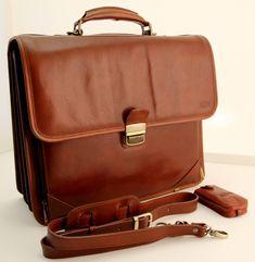 Handmade Luxury Italian Genuine Leather Briefcase Brown by noda4you on Etsy