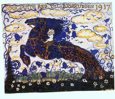 John Bauer - Nordic Myth and Fairytale Art and Illustration Medieval Dragon, John Bauer, Fairytale Art, Soul Art, Design Graphique, Map Art, Illustration Art, Vintage Illustrations, Fairy Tales