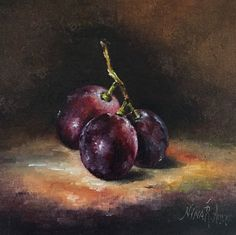 Muscadine Grapes Still Life Oil Painting by by NinaRAideStudio https://www.etsy.com/listing/471776199/muscadine-grapes-still-life-oil-painting?ref=listings_manager_grid