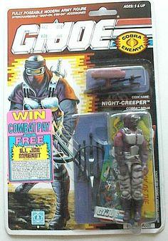 Night Creeper (v1) G.I. Joe Action Figure - YoJoe Archive