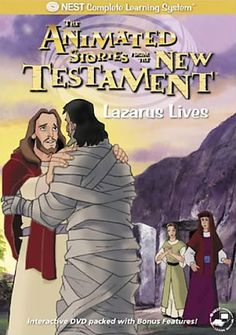 Animated Stories from the Bible: Lazarus Lives - Christian Movie/Film on DVD. http://www.christianfilmdatabase.com/review/animated-stories-from-the-bible-new-testament-lazarus-lives-nest/