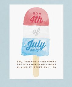 A festive 4th of July celebration online digital invitation from Minted.