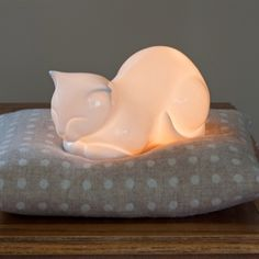 Cat Lamp White by White Rabbit England