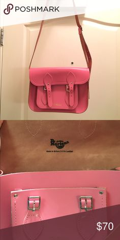 Dr. Martens Pink Satchel 100% leather. Almost new, only use twice Dr. Martens Bags Satchels