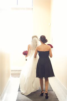 I want to take a picture like this with my baby sister at my wedding :))