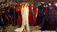 The Penance of Eleanor, Duchess of Gloucester, 1900 by Edwin Austin Abbey - Fell in love with this in Pittsburgh at the Carnegie Museum.