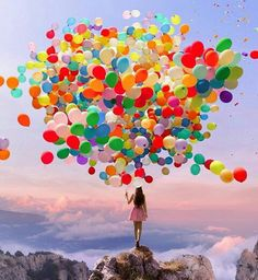 Endless possibilities...☺☺☺ (Image by Robert Jahns) #Happiness #brightcolours #dreams #balloons