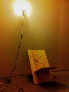 homemade, diy, lamp, light, chair, slow chair