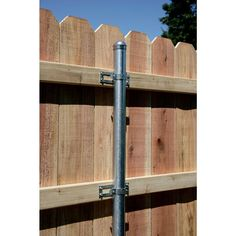 Simpson Strong-Tie Pipe Grip Tie® for 2 in. Pipe - The Home Depot backyard design diy ideas Wood Fence Design, Privacy Fence Designs, Privacy Fences, Diy Backyard Fence, Backyard Projects, Backyard Landscaping, Galvanized Fence Post, Wooden Fence, Wood Fence Gates