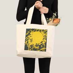 Shop Yellow splash Jumbo tote bag created by Buy_ArtDuo. Grey Tote Bags, Custom Clothes, Shopping Bag, Reusable Tote Bags, Yellow, Shopping Bags