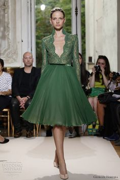 Google Image Result for http://www.weddinginspirasi.com/wp-content/uploads/2012/07/georges-hobeika-fall-winter-2012-couture-short-green-sleeve-dress.jpg