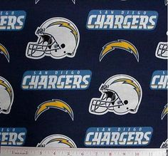 NFL Football San Diego Chargers Cotton Fabric