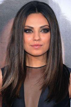 Mila Kunis hair: Sleek n shiny brunette locks