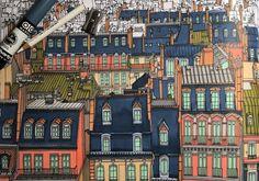 ": A Paris streetscape is depicted in the new book ""Fantastic Cities."" Image via Instagram user Nikki Davison/thegirl_isagirl"