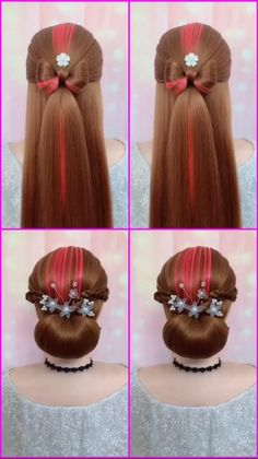 Formal Hairstyles For Long Hair, Bride Hairstyles, Summer Hairstyles, Cute Hairstyles, Beautiful Hairstyles, Party Hairstyles, Hair Up Styles, Natural Hair Styles, Hair Style Vedio