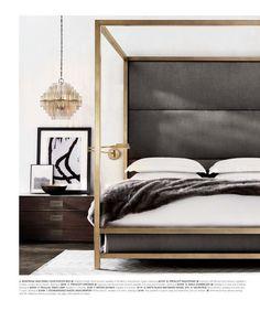 Bedroom inspiration | bronze, gold bed frame | modern bedroom