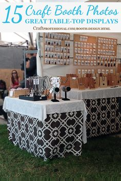 Lots of great craft booth photos here - http://www.craftprofessional.com/booth-design.html