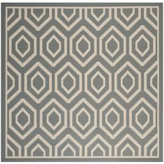 Amazon.com   Safavieh Courtyard Collection CY6902 246 Anthracite And Beige  Square Area Rug