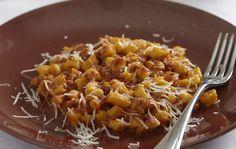 Ciciones con salsiccia - Sardinian pasta with Italian pork sausage ragu