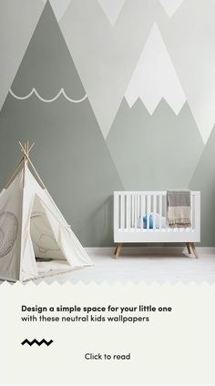 Be inspired by these simple kids bedroom ideas and create a beautiful space for your little person to rest, grow and play. This collection of neutral kids wallpapers is fun and playful, yet sophistica Kids Bedroom Boys, Boy Toddler Bedroom, Baby Boy Rooms, Kid Bedrooms, Girl Rooms, Kids Room Wallpaper, Of Wallpaper, Boy Room Paint, Cute Bedroom Ideas