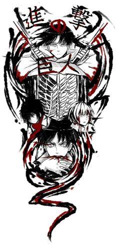 Attack on Titan_Levi, Mikasa, Armin & eren Armin, Levi X Eren, Attack On Titan Tattoo, Attack On Titan Anime, Attack On Titan Symbol, Tokyo Ghoul, Atack Ao Titan, Tous Les Anime, Anime Tattoos