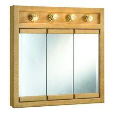 Elegant Tri View Medicine Cabinet with Lights