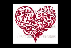 Heart Cross Stitch Red Heart Cross Stitch by NewYorkNeedleworks, $8.00