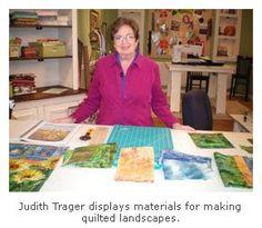 judith trager landscape quilt design