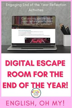 Are you looking an engaging end of the year activity or end of the year lesson? This End of the Year Digital Escape Room will have your middle school students engaged in end of the year reflection questions, reflection activities, and other fun activities. |Middle school lessons| Middle school activities | Middle school activities fun | Distance Learning activities
