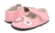 Pediped Originals Girls Sadie Pink Mary Jane Leather Baby Crib Shoes NIB SizeXS #pediped #CribShoes