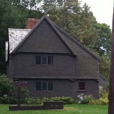 Whipple house, 1677, Ipswich, Massachusetts. The stocks are out front.