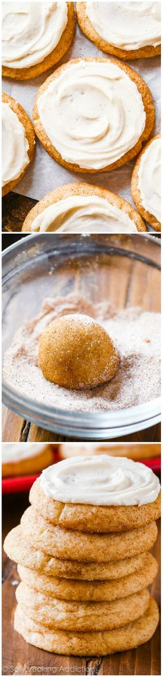 Frosted Chai Spice Snickerdoodles! These are so simple. Like a chai tea latte, in cookie form!