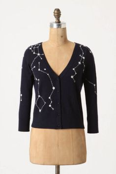 Anthropologie Kites and Constellations Cardigan by Moth