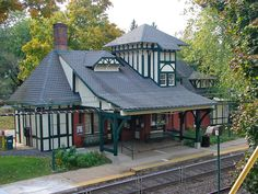 Mount Airy station is a SEPTA Regional Rail station at 119 East Gowen Avenue between Devon and Sprague Streets, Philadelphia, Pennsylvania. The station building is listed on the National Register of Historic Places and was built in 1875 with Frank Furness as the likely architect, according to the Philadelphia Architects and Buildings project.
