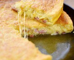 lait, oeuf, beurre, fromage râpé, lardons, farine, muscade, Poivre, Sel