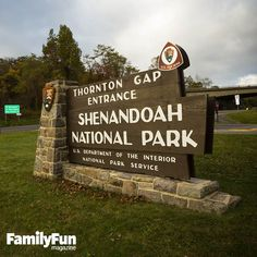 The Thornton Gap Entrance to Shenandoah National Park in Virginia.